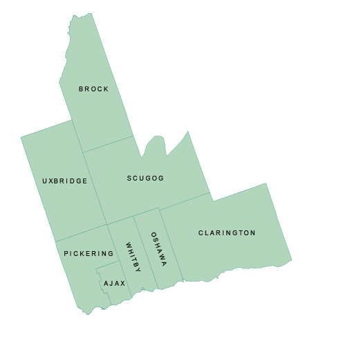 Regional Municipality of Durham Map