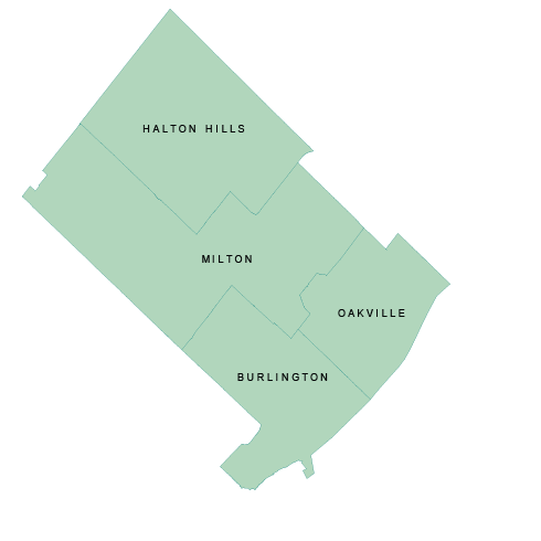 Regional Municipality of Halton Map